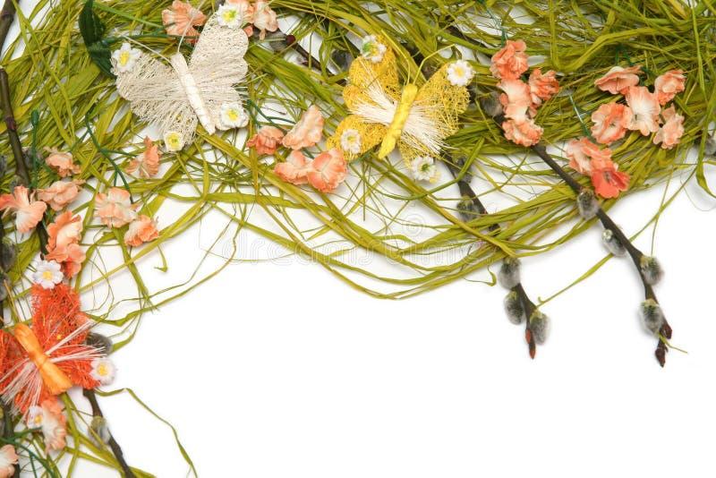 Ostern-Blumenanordnung lizenzfreies stockfoto