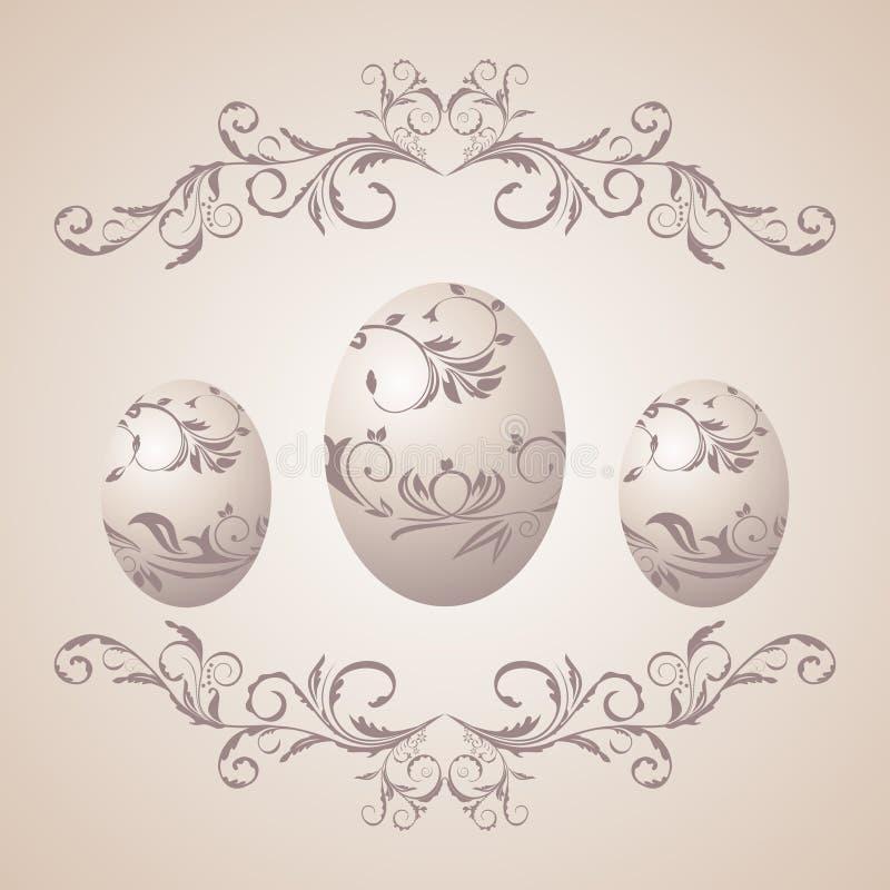 Ostern-Blumenhintergrund lizenzfreie abbildung