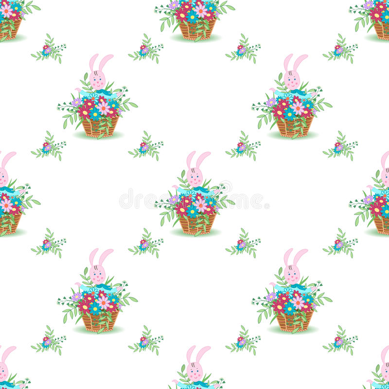 Ostern Bunny Ears pattern-01 stock abbildung