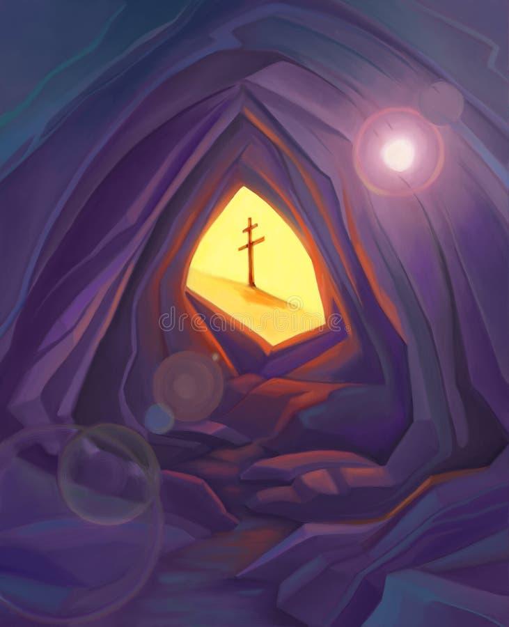 ostern christliche symbolillustration stock abbildung