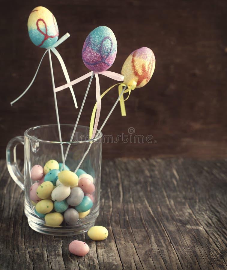 Ostern-Dekoration stockbilder