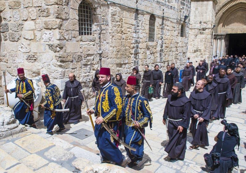 Ostern in der Kirche vom heiligen begraben in Jerusalem stockfotografie