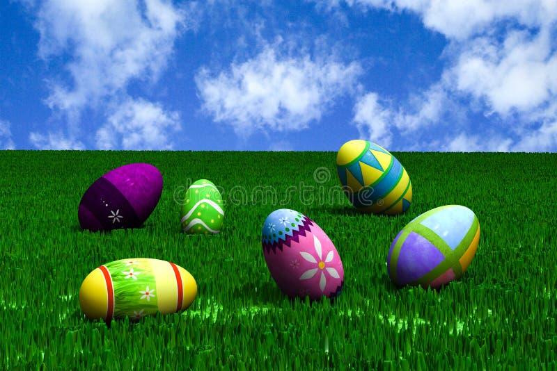 Ostern in der Wiese stockbilder