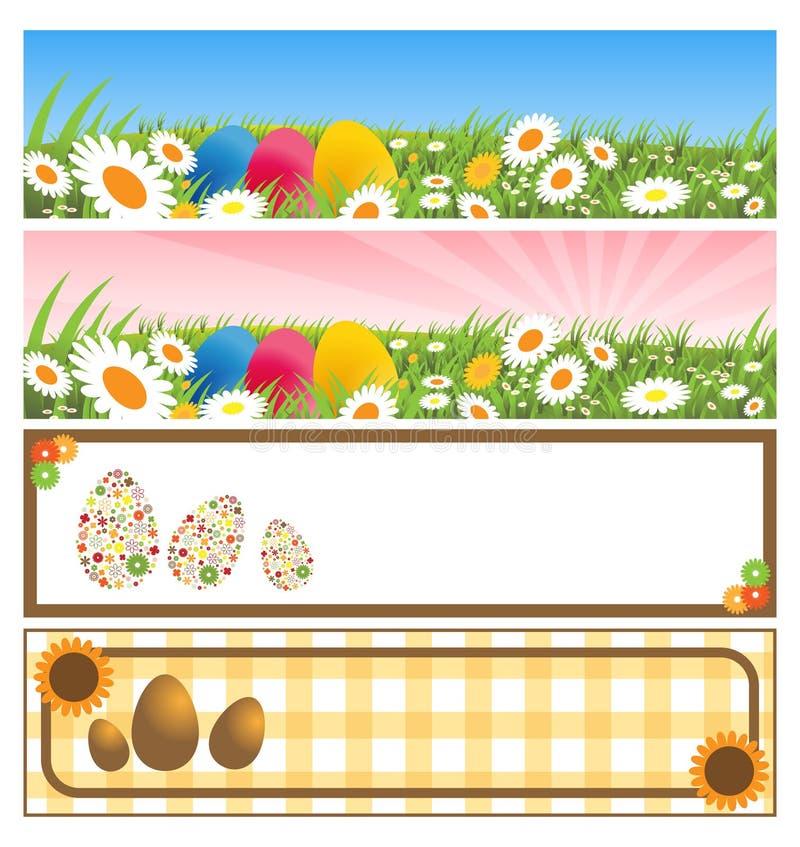 Ostern-Fahnen lizenzfreie abbildung