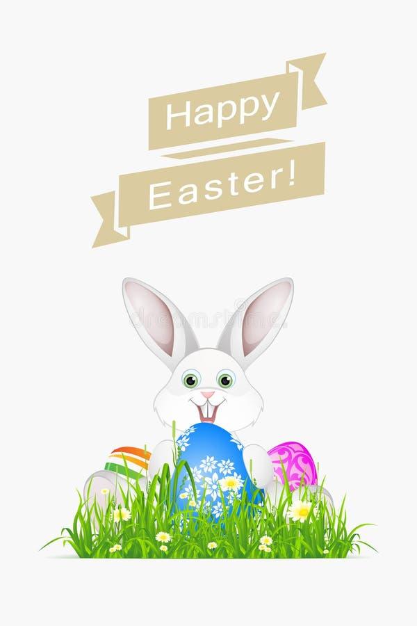Ostern-Feiertagskarte lizenzfreie abbildung