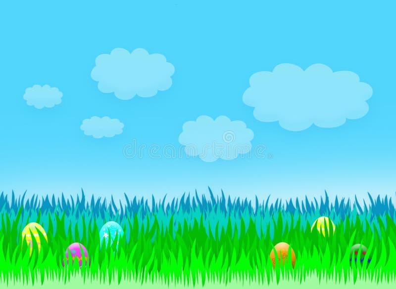 Ostern-Feiertagslandschaft lizenzfreie abbildung