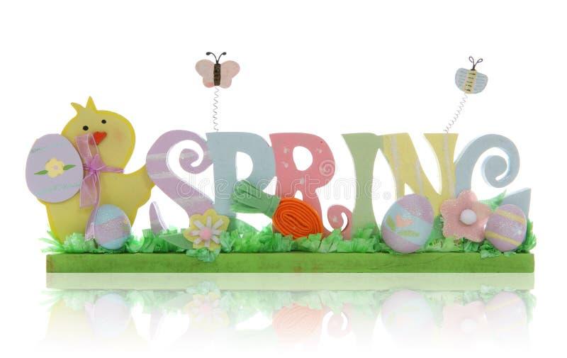 Ostern-Frühlings-Zeichen stockfotografie