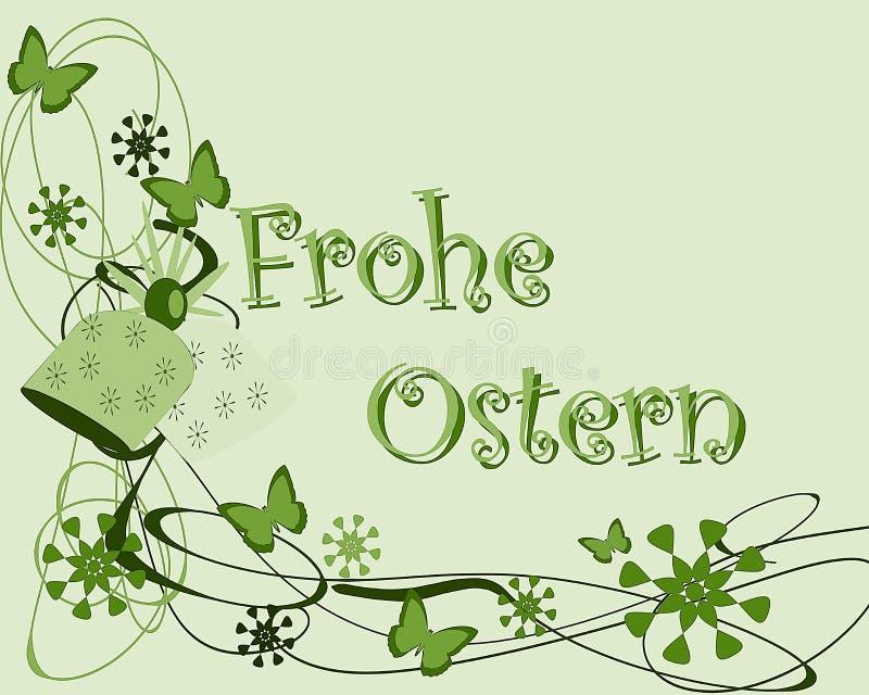 Ostern-Grußkarte stock abbildung
