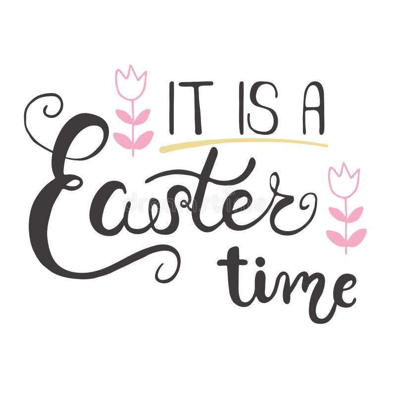 Ostern-Grußkarte - es ist eine Ostern-Zeit stockfotografie