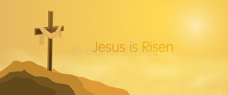 Ostern-Hintergrund - Jesus wird gestiegen lizenzfreie abbildung