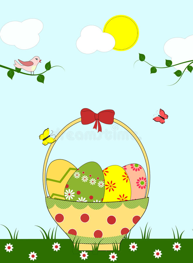 Ostern-Illustration lizenzfreie abbildung