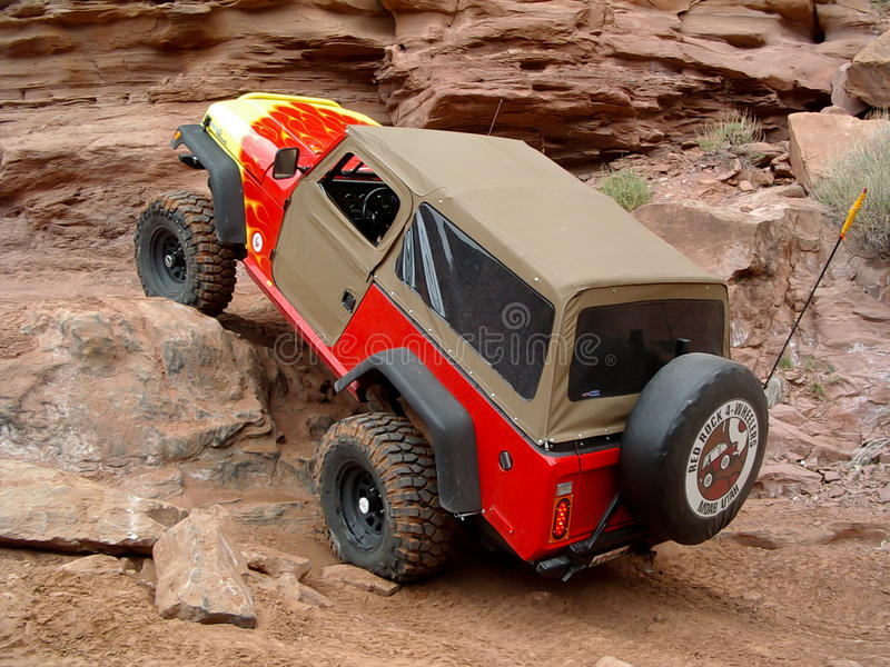 Ostern Jeep Safari, Moab Utah lizenzfreie stockfotos