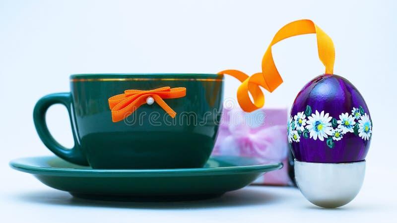Ostern-Kaffee stockfotos