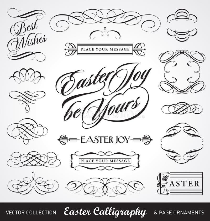 Ostern-Kalligraphie eingestellt () lizenzfreie abbildung