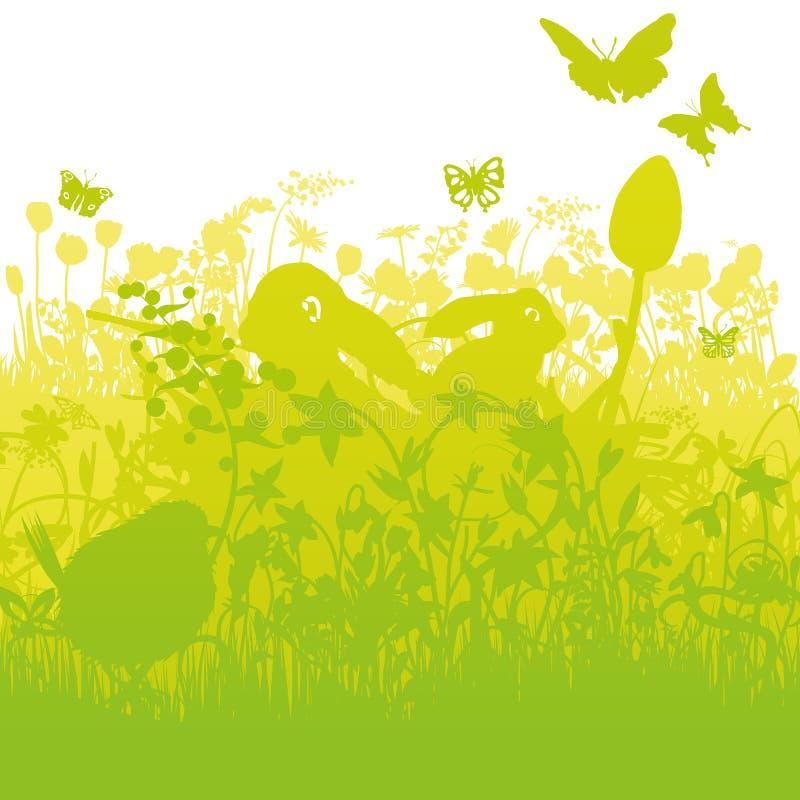 Ostern-Kaninchen im starken Gras vektor abbildung
