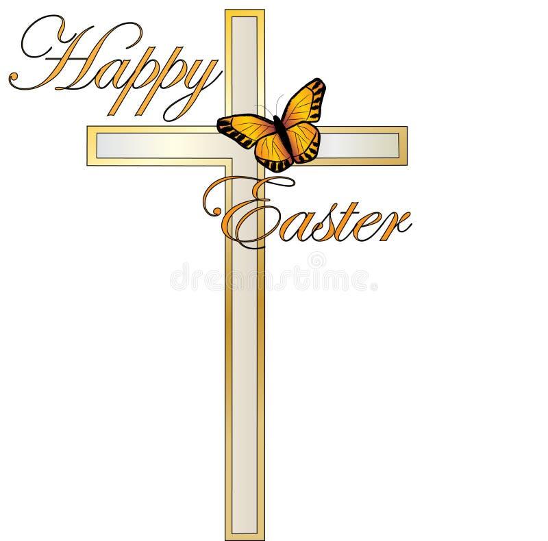 Ostern-Kreuz stock abbildung