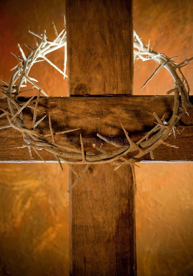 Ostern-Kreuz stockbilder