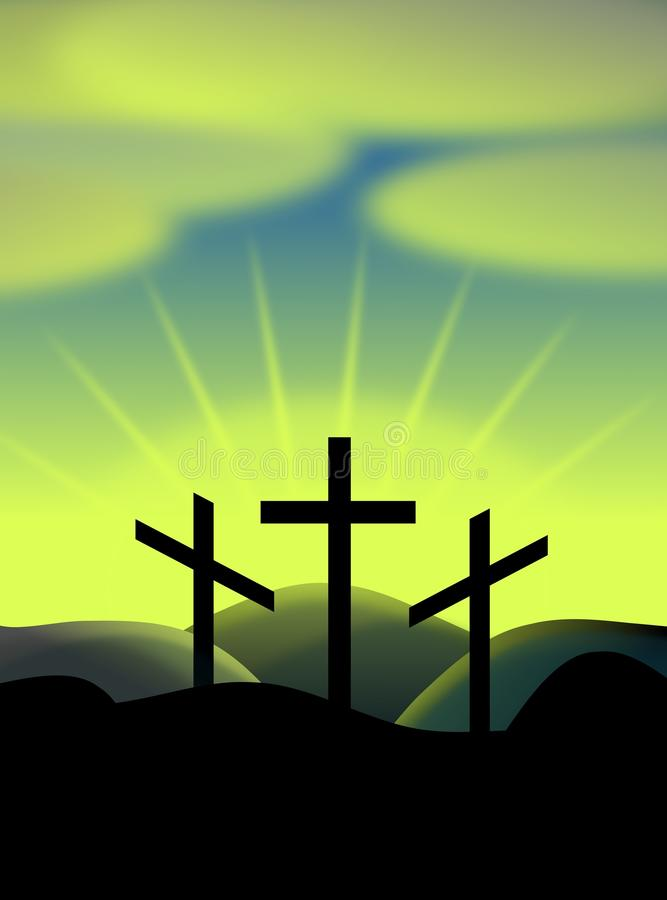 Ostern-Kreuze lizenzfreie abbildung