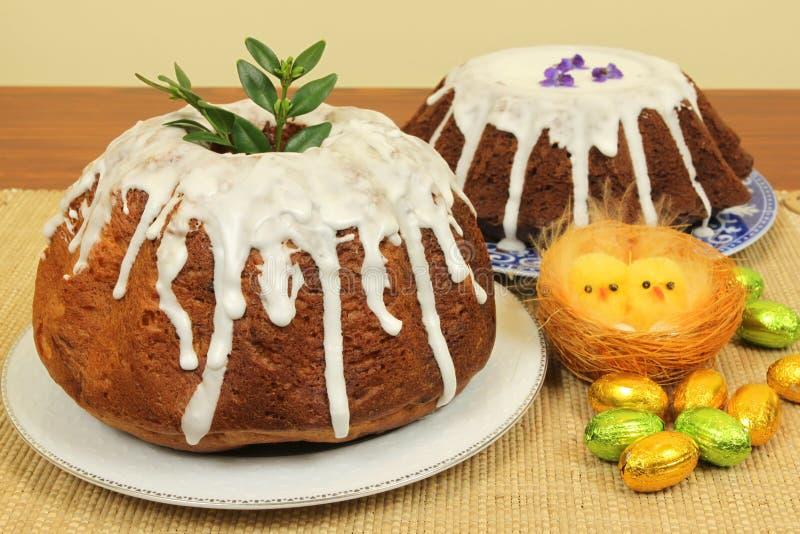Ostern-Kuchen stockbild
