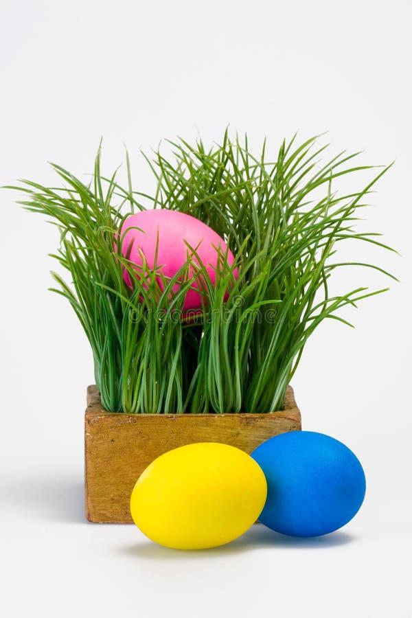 Ostern mit Eiern lizenzfreie stockfotografie