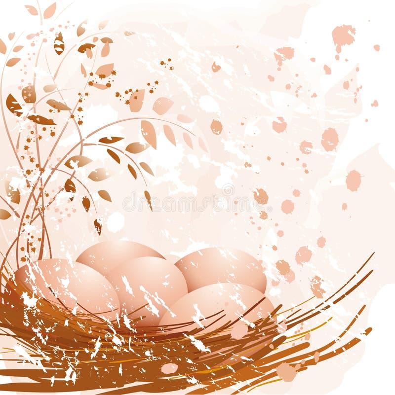 Ostern-Pastelleier Stockbild