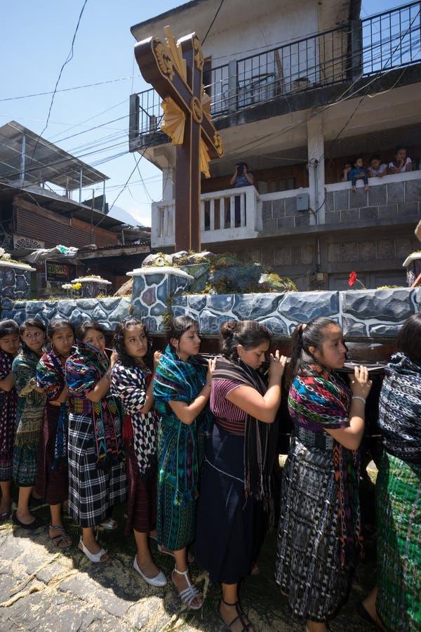 Ostern-Prozession in Guatemala lizenzfreie stockfotos