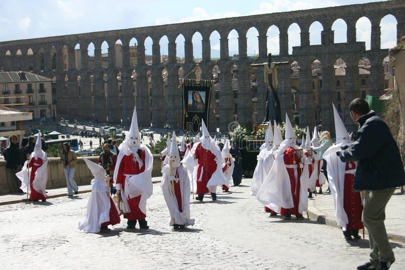 Ostern-Prozession in Segovia stockfotografie