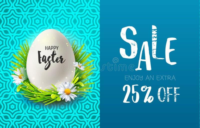 Ostern-Verkauf und realistisches Ei vektor abbildung