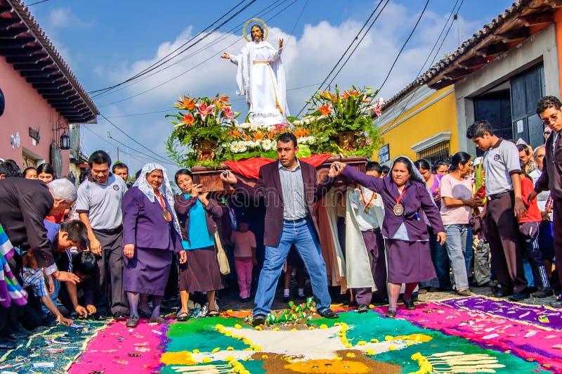 Ostersonntag Prozession, Antigua, Guatemala lizenzfreie stockfotos