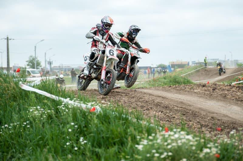Osteuropäische Supermoto-Meisterschaft 2013 stockbilder