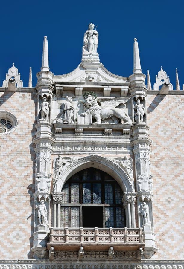 Ostfassade des Palastes des Doges, Venedig (Italien) stockfotos