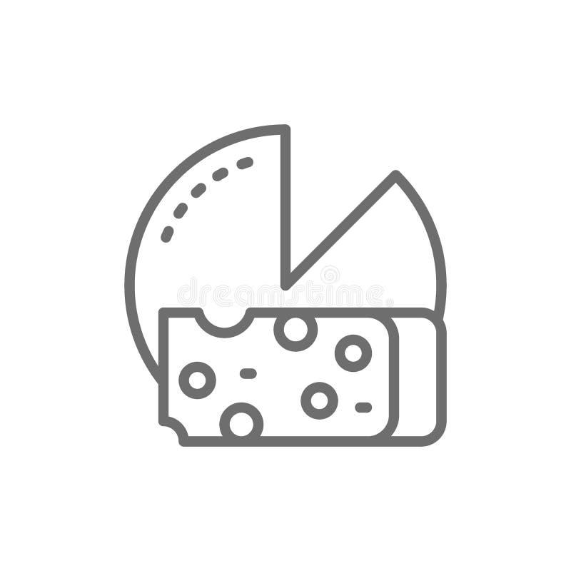 Osthjul med skivalinjen symbol stock illustrationer