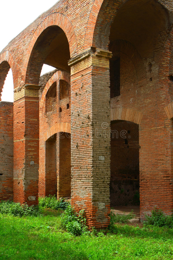 Ostia. The harbor city of ancient Rome royalty free stock images