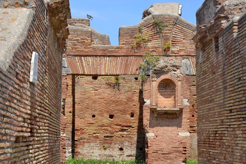 Ostia Antica,罗马意大利的考古学挖掘 库存图片