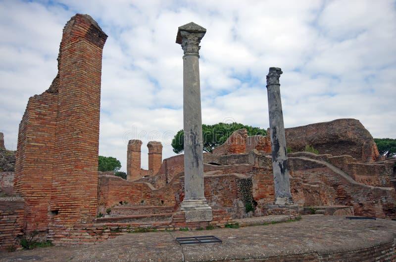 Ostia Antica. Ruins at Ostia Antica, near Rome stock image