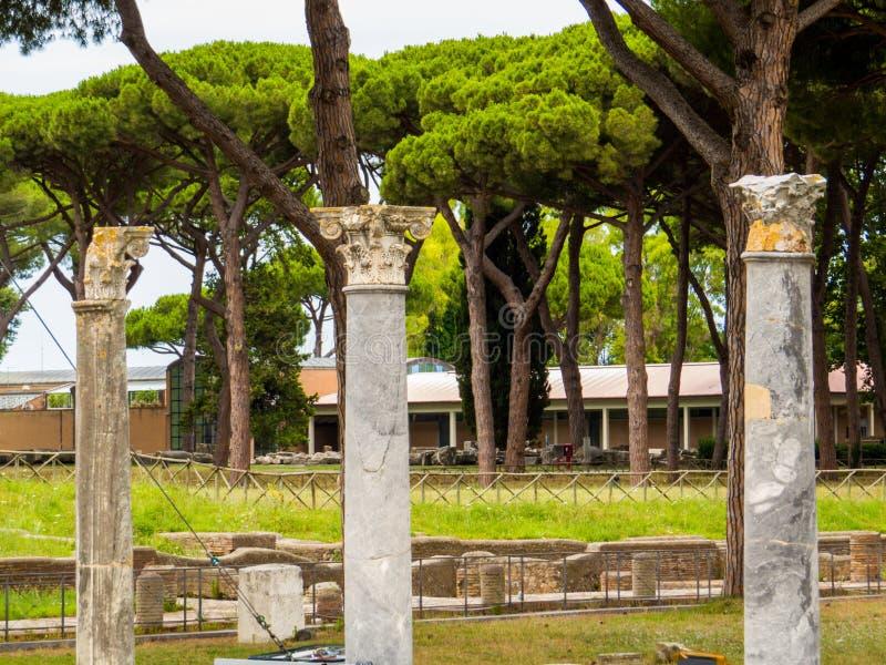 Ostia Antica, Roma, Itália imagens de stock