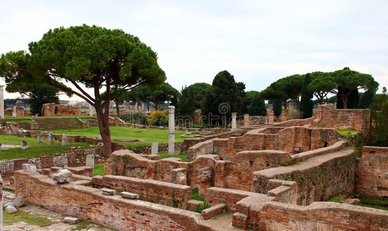 Ostia Antica ruins. Ruins of Ostia Antica, ancient harbour of Rome, Lazio, Italy royalty free stock photo