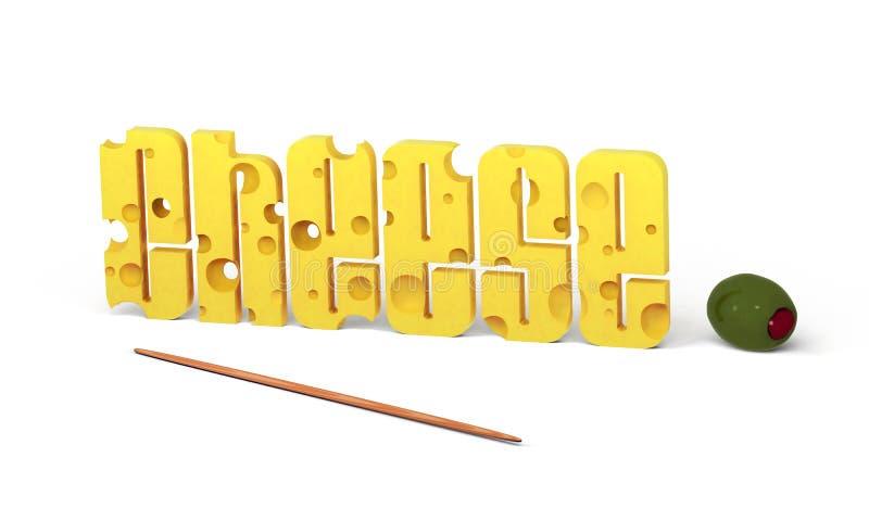 ostolivgröntext stock illustrationer