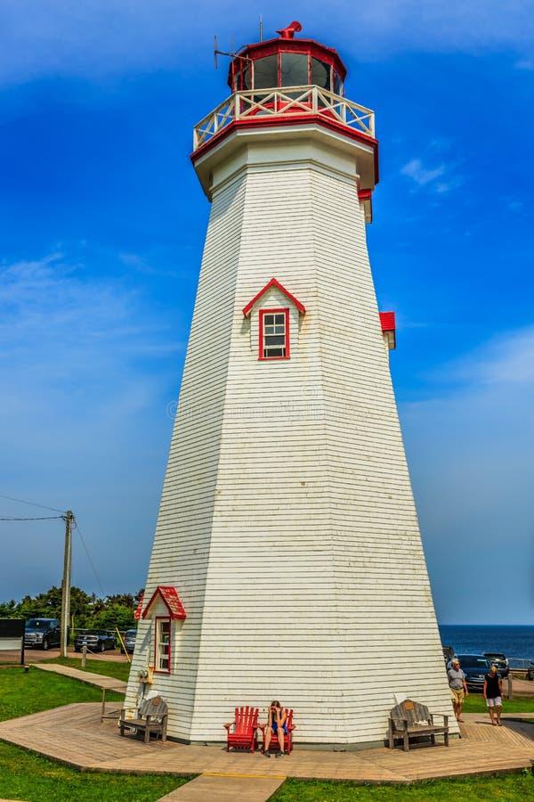 Ostpunktleuchtturm, PEI, Kanada lizenzfreies stockbild