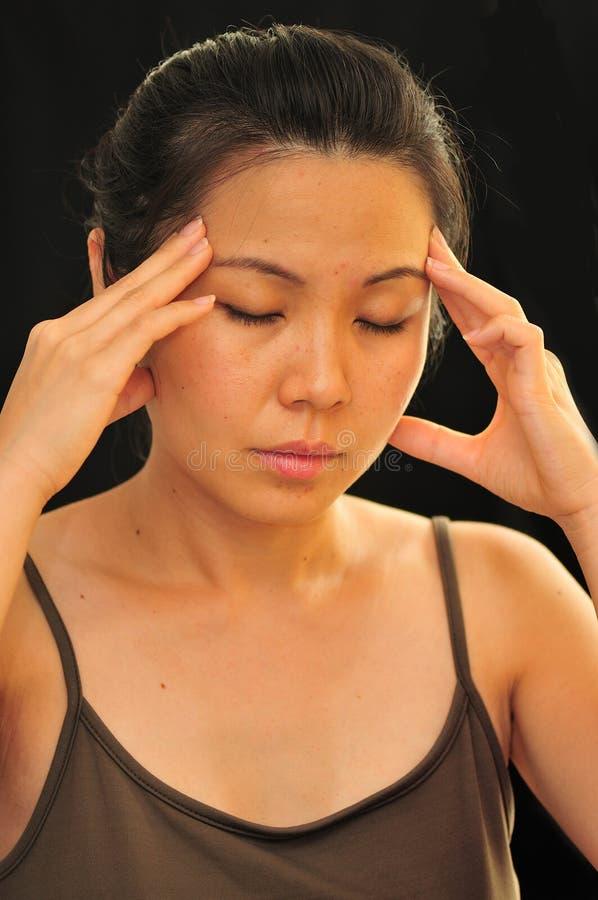 ostra ból głowy. obrazy stock