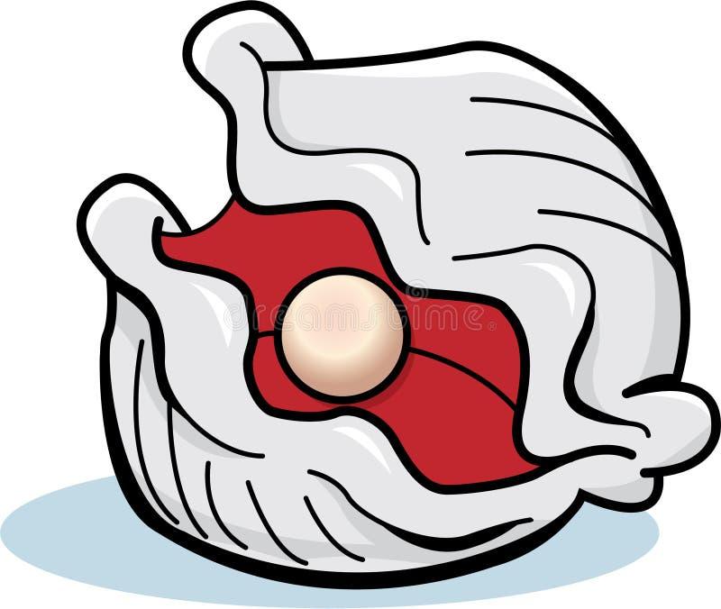 Ostra con una perla ilustración del vector