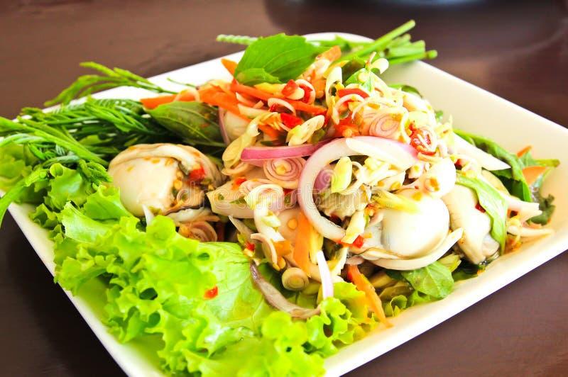 Ostras picantes del alimento tailandés. fotos de archivo