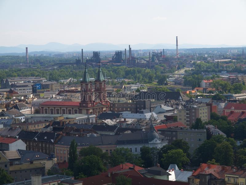 Ostrava. City in Czech Republic stock images