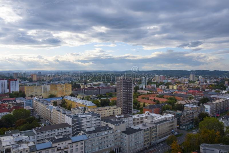 Ostrava city, Czech republic. Top view to Ostrava city, Czech republic stock photography