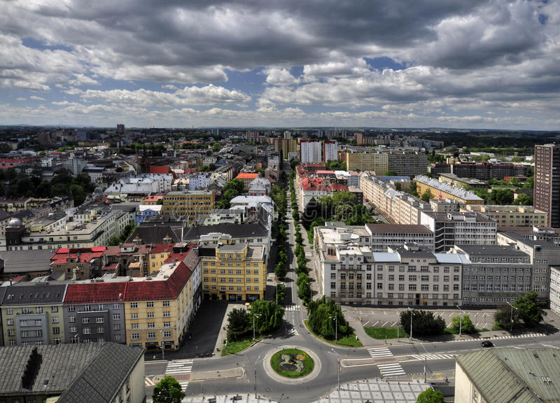 Ostrava city. View from City Hall to the surrounding Ostrava - Czech Republic stock photography