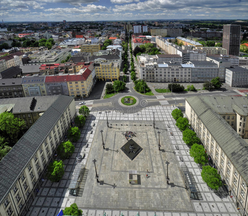 Ostrava city. View from City Hall to the surrounding Ostrava - Czech Republic stock images
