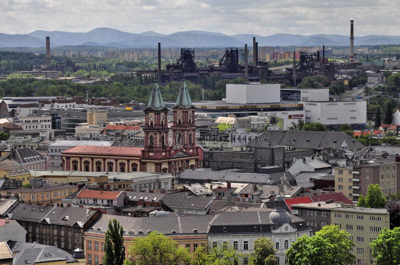 Ostrava city. View from City Hall to the surrounding Ostrava - Czech Republic stock photo