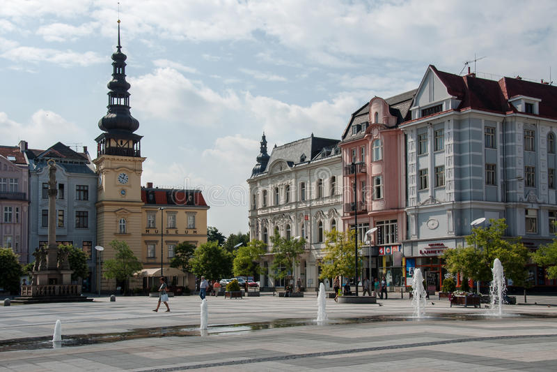 Ostrava Tjeckien arkivbilder