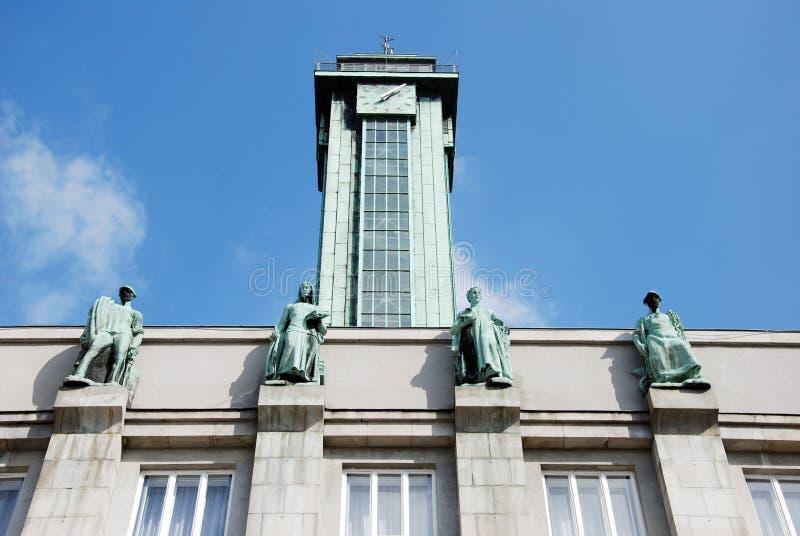 Ostrava town hall royalty free stock photo