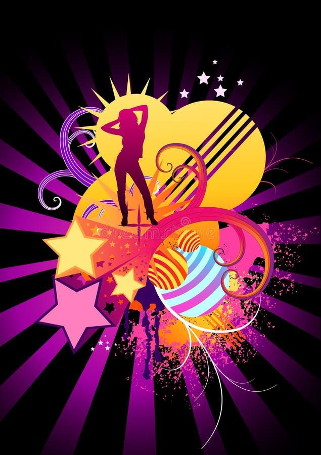 ostre elementy tańczącego ilustracji